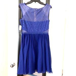 Aqua Dresses - AQUA Cobalt Blue Lace A-line Dress